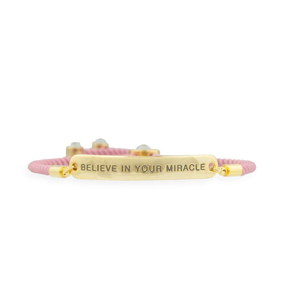 Believe in your Miracle Gold – Words of Empowerment Bracelet WORDS OF EMPOWERMENT FOREVER CRYSTALS