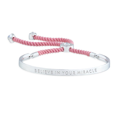 Believe in your Miracle – Words of Empowerment Bracelet forevercrystals