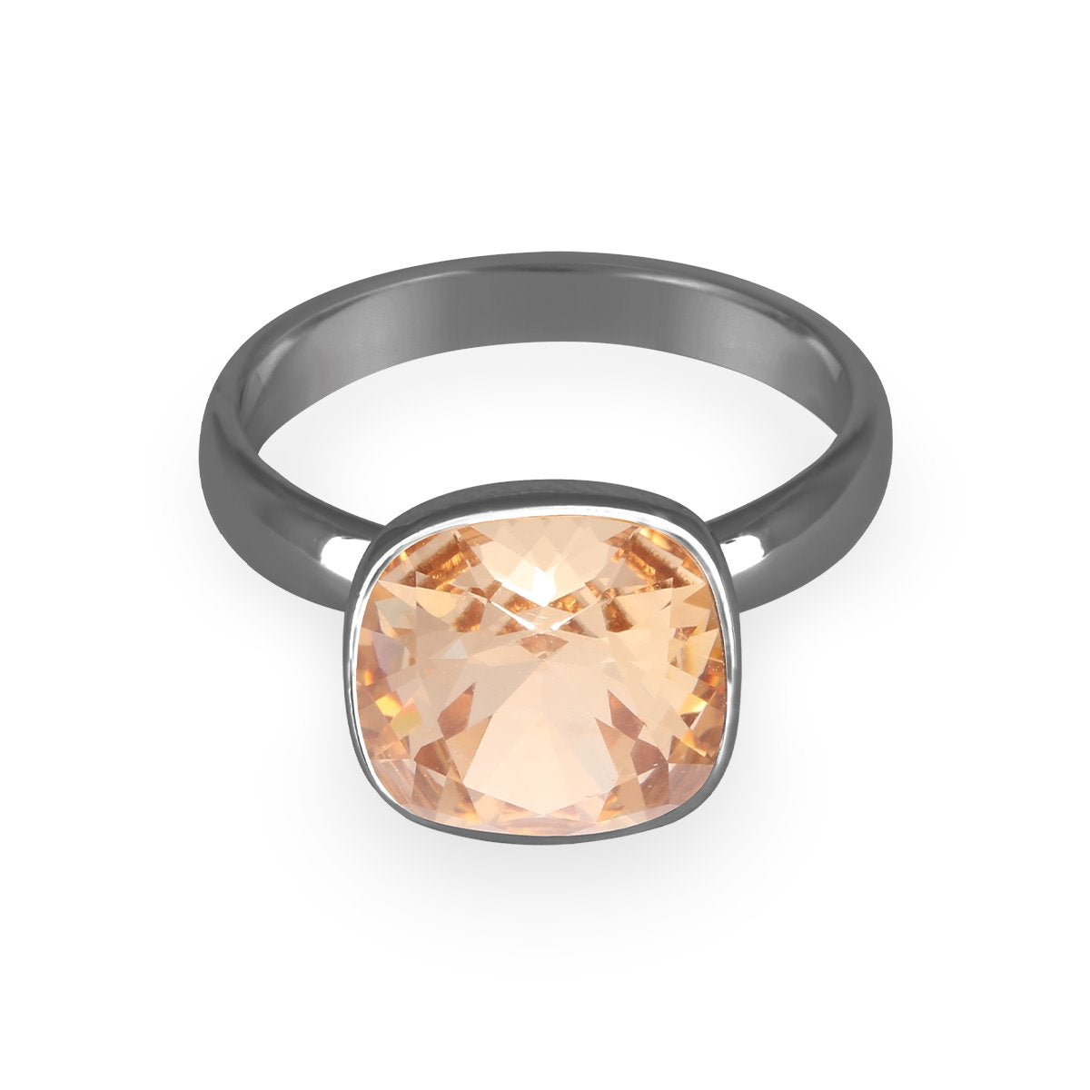 Bezel Cushion Solitaire Ring forevercrystals