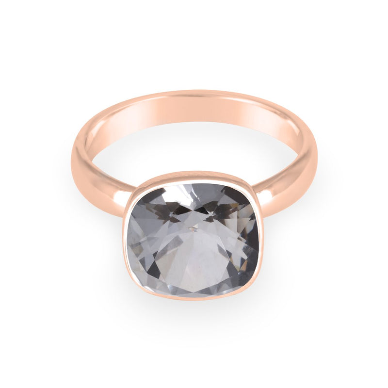 Bezel Cushion Solitarie Ring forevercrystals