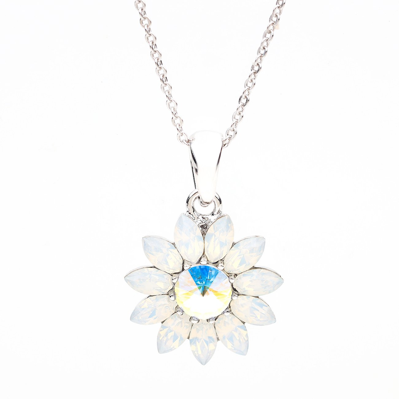BLOOM ENDLESS LOVE FLOWER PENDANT WHITE OPAL