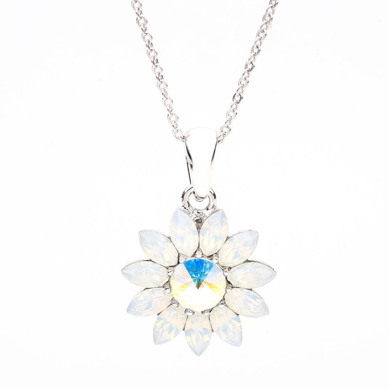 BLOOM ENDLESS LOVE FLOWER PENDANT WHITE OPAL PENDANT - FOREVER - VOIAGE FOREVER
