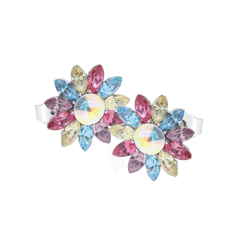 BLOOM HAPPINESS FLOWER EARRING LIGHT MULTI