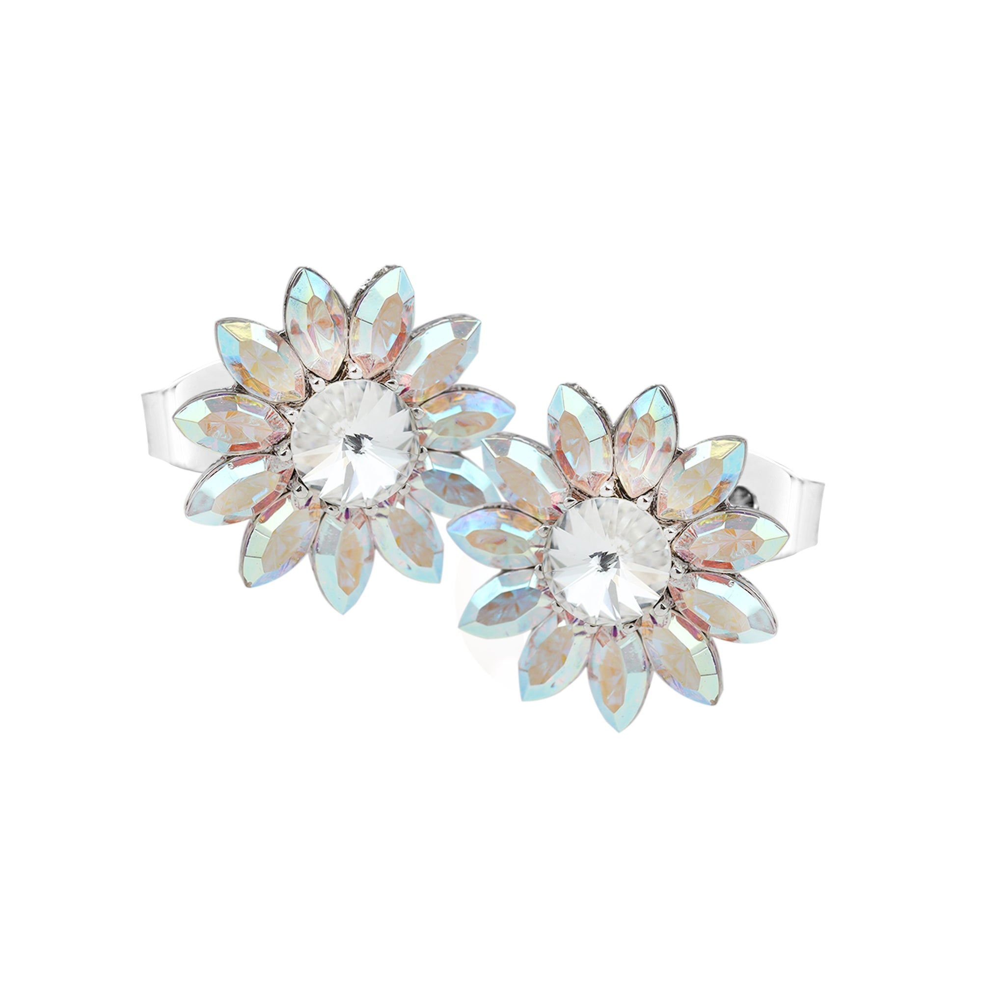 BLOOM NEW BEGINNINGS FLOWER EARRING AURORA BOREALIS