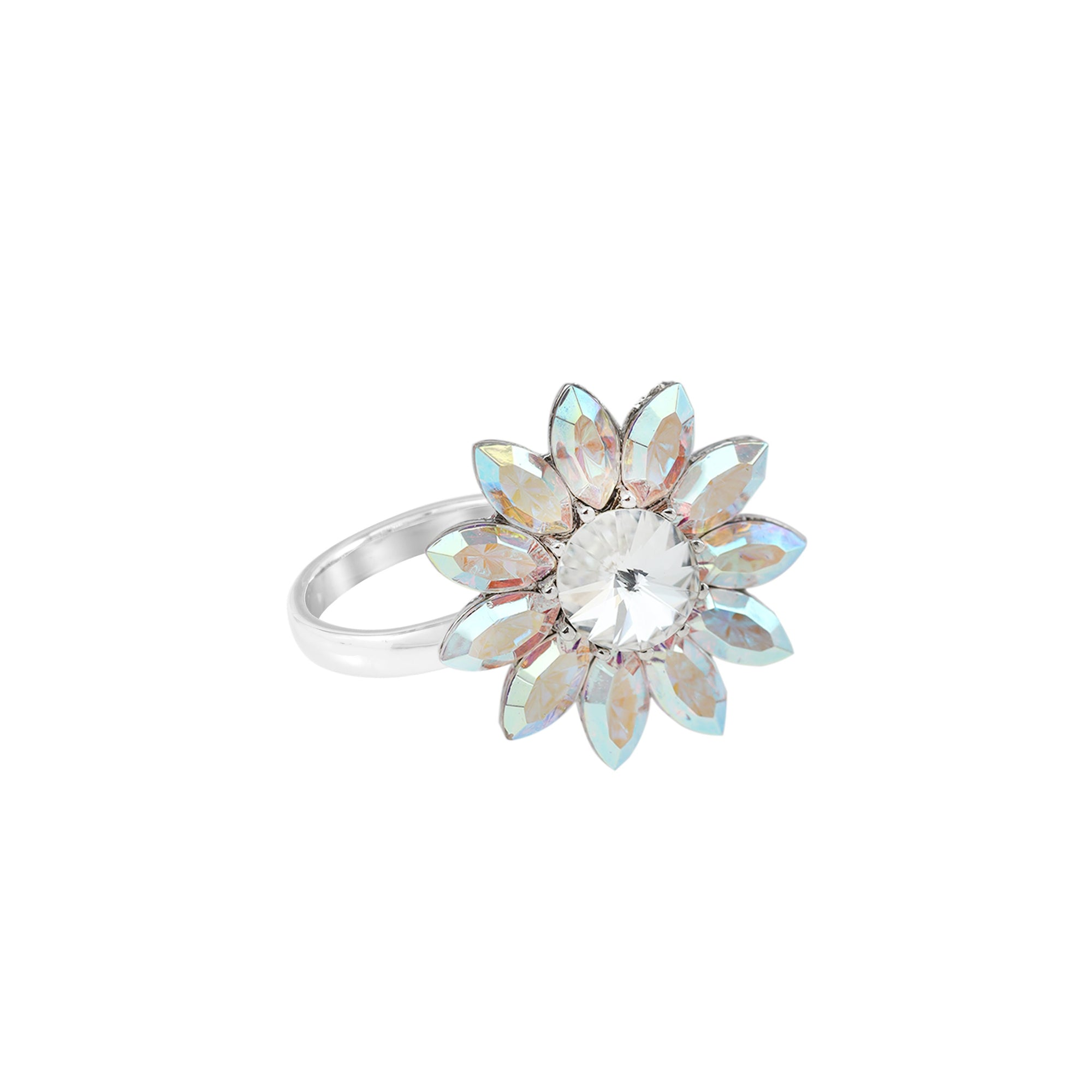 BLOOM NEW BEGINNINGS FLOWER RING AURORA BOREALIS
