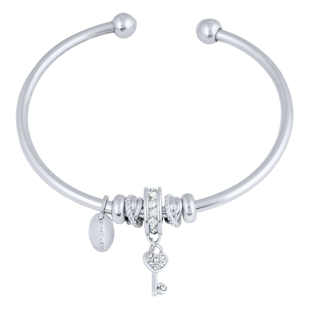 CANIS FLEXI BANGLE BRACELET SILVER CAL
