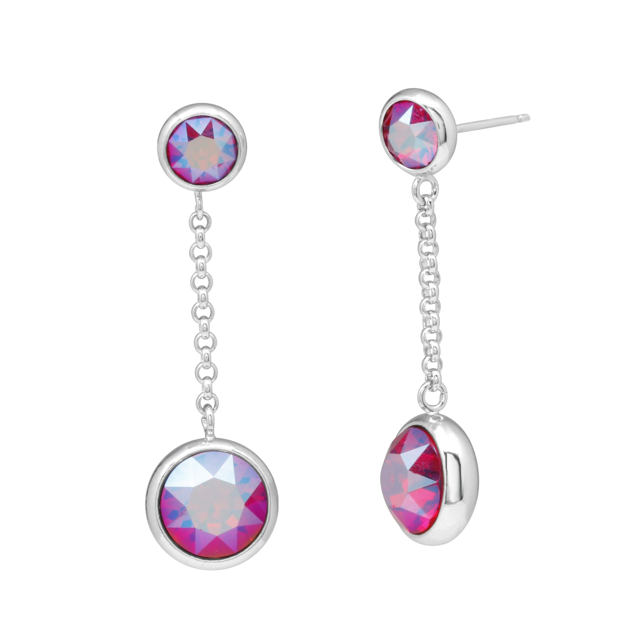 CARLOTTA DROP EARRING LIGHT SIAM SHIMMER forevercrystals