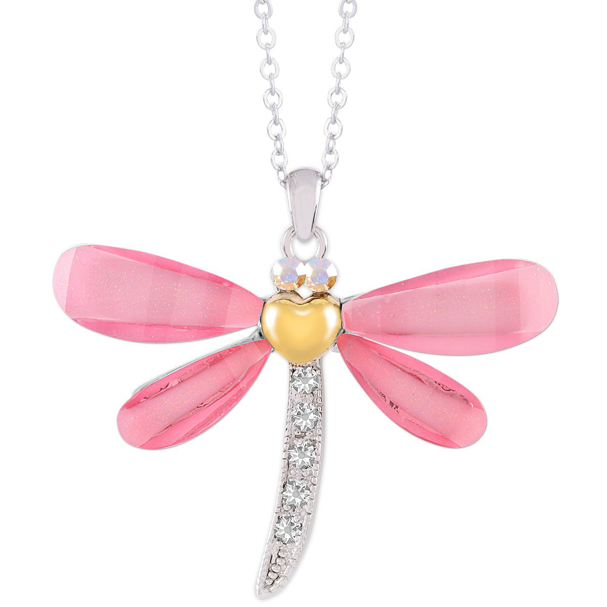 Classic Dragonfly Pendant PENDANT - FOREVER - VOIAGE ANIMALS - CRYSTAL forevercrystals