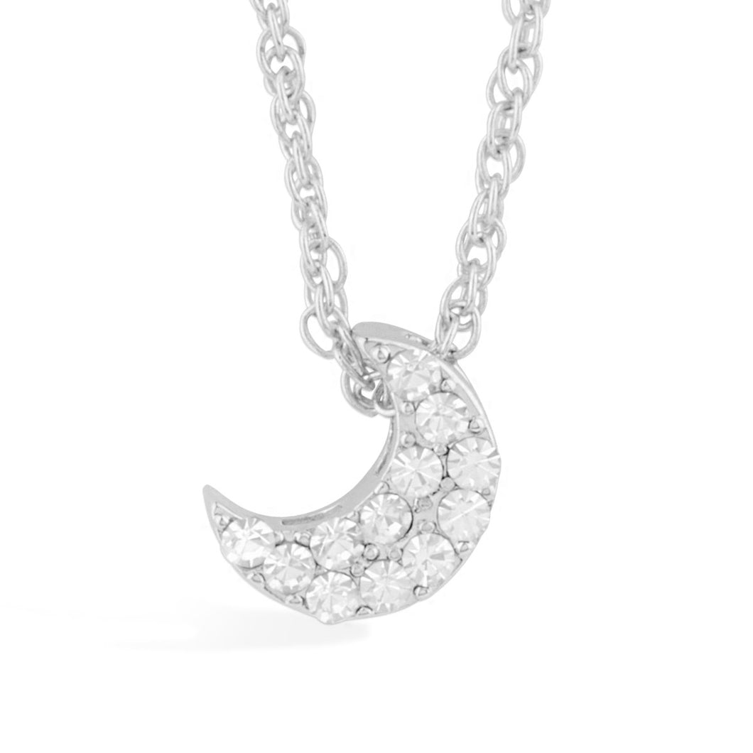 Crescent Moon Pendant forevercrystals