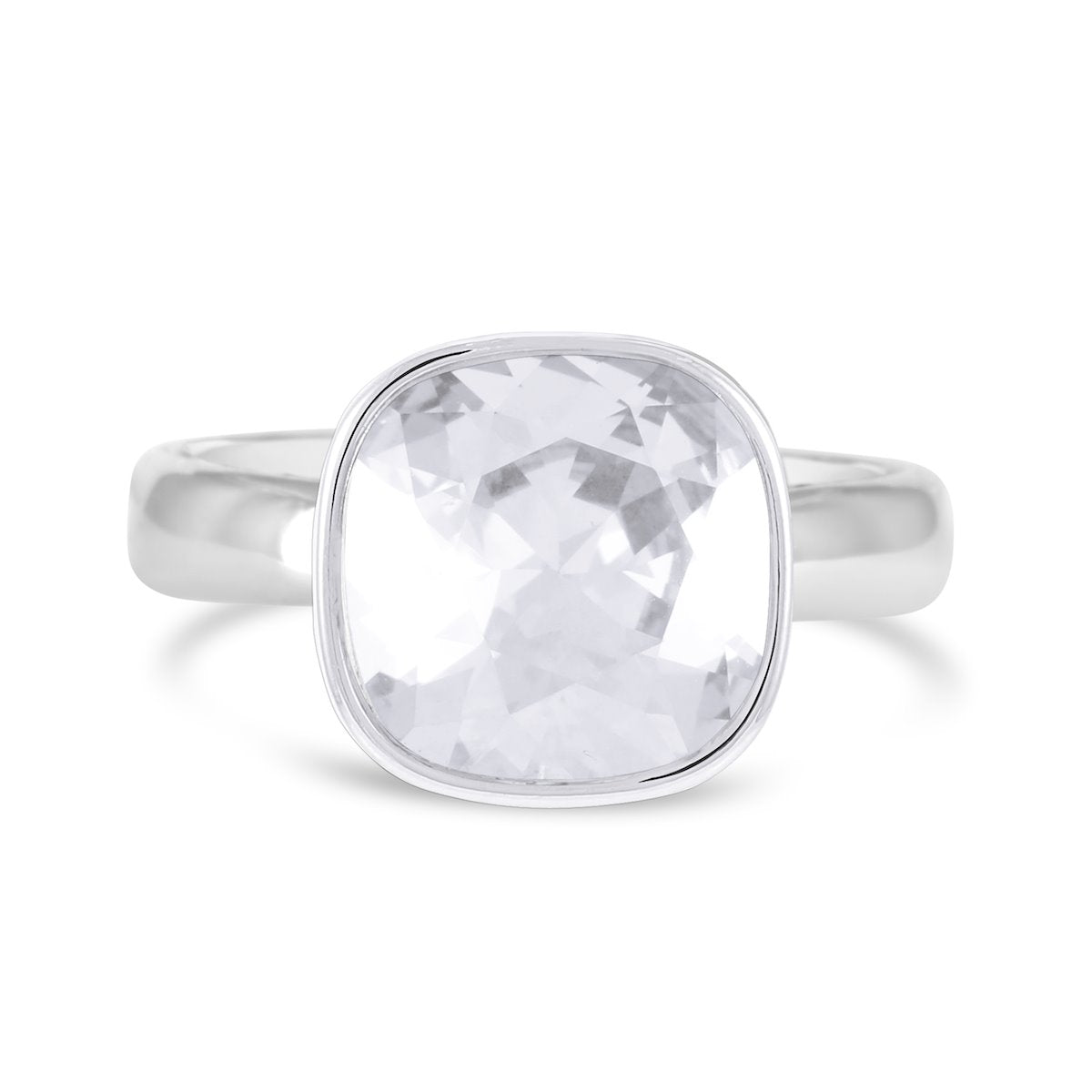 CUSHION SOLITAIRE RING MOONLIGHT ESSENTIALS FOREVER CRYSTALS