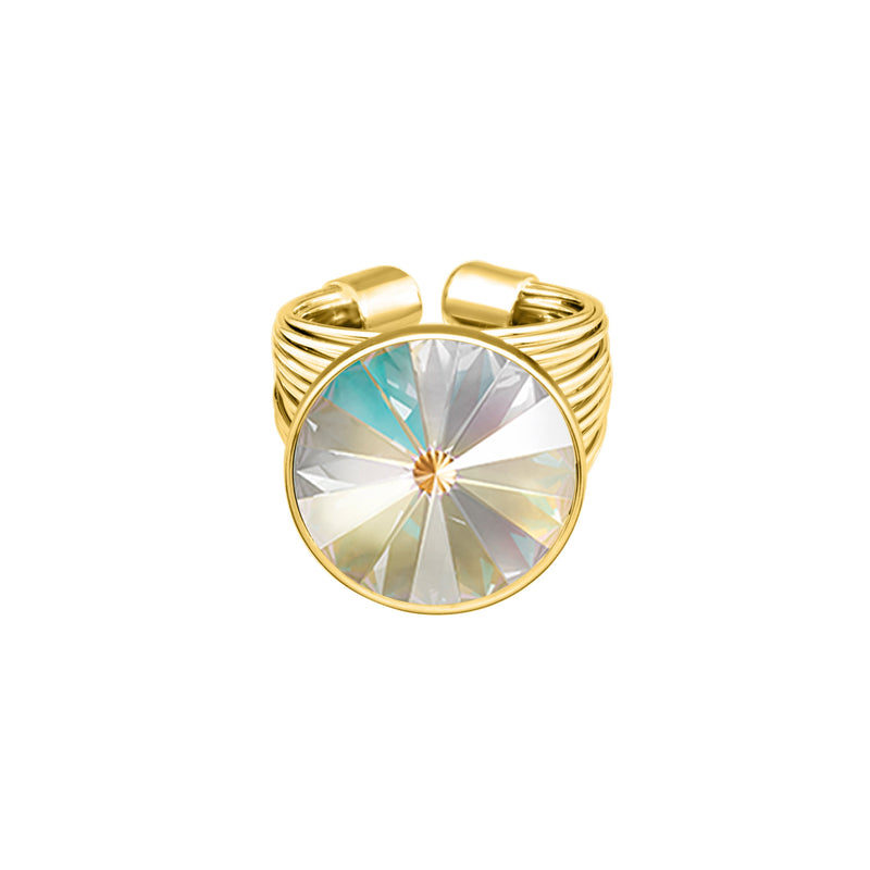 Daisy Ring Gold Light Grey Delite
