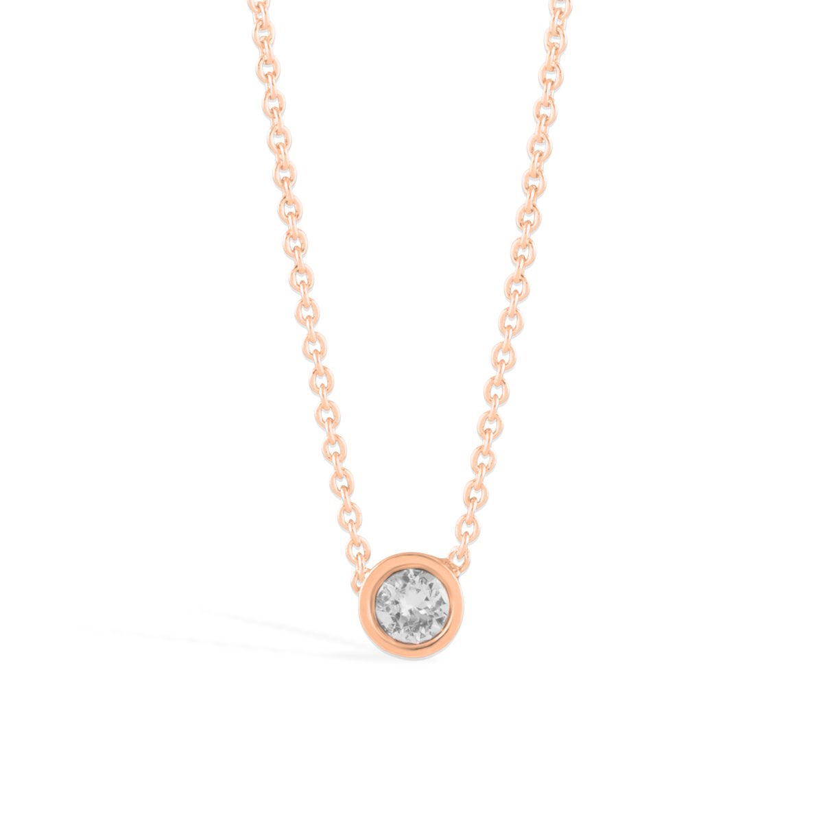 Denia Necklace forevercrystals Rose Gold