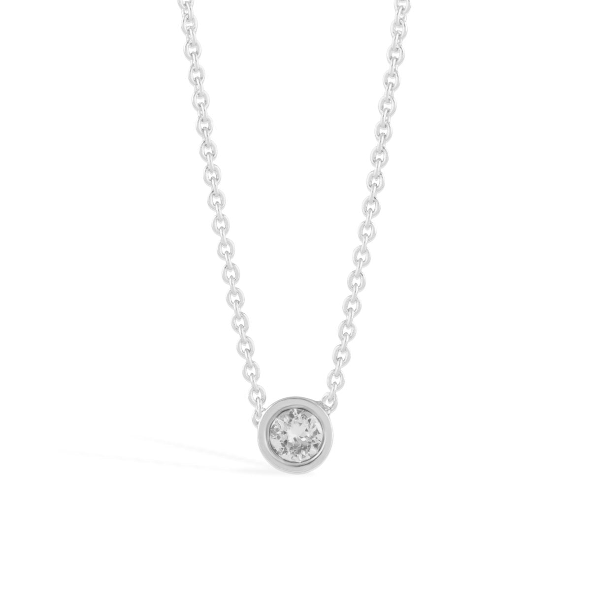 Denia Necklace forevercrystals Silver
