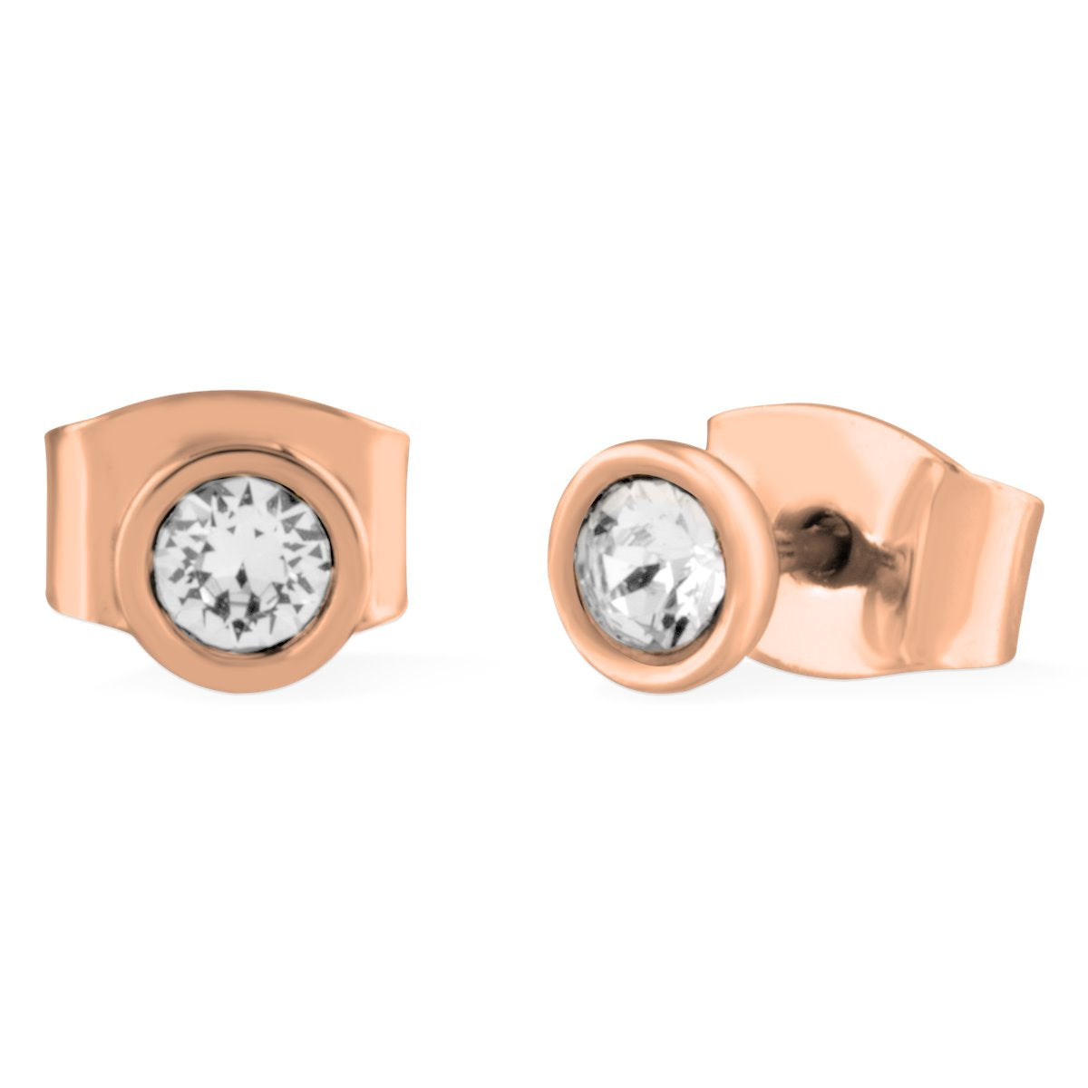Denia Stud Earrings forevercrystals Rose Gold