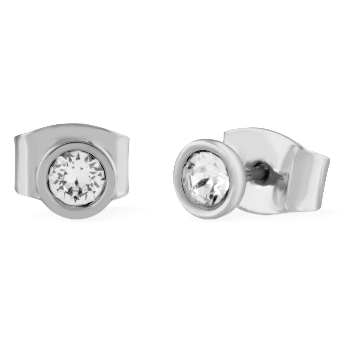 Denia Stud Earrings forevercrystals Silver