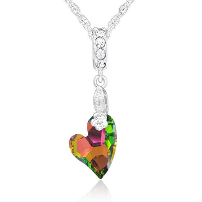 Devoted 2 U Swarovski Heart Pendant forevercrystals Vitrail Medium