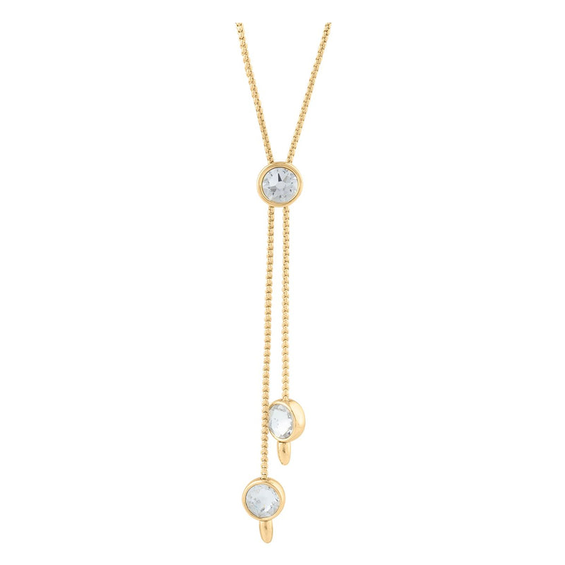 DORIS NECKLACE SLIDER GOLD CRYSTAL