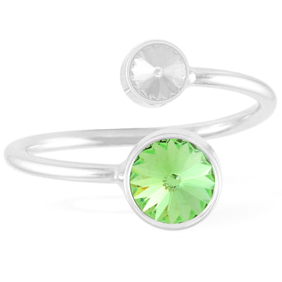 Duo Ring Peridot forevercrystals
