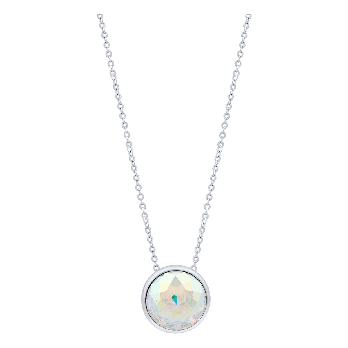 Elysees Necklace Silver Aurora Borealis JOY OF SPARKLE FOREVER CRYSTALS