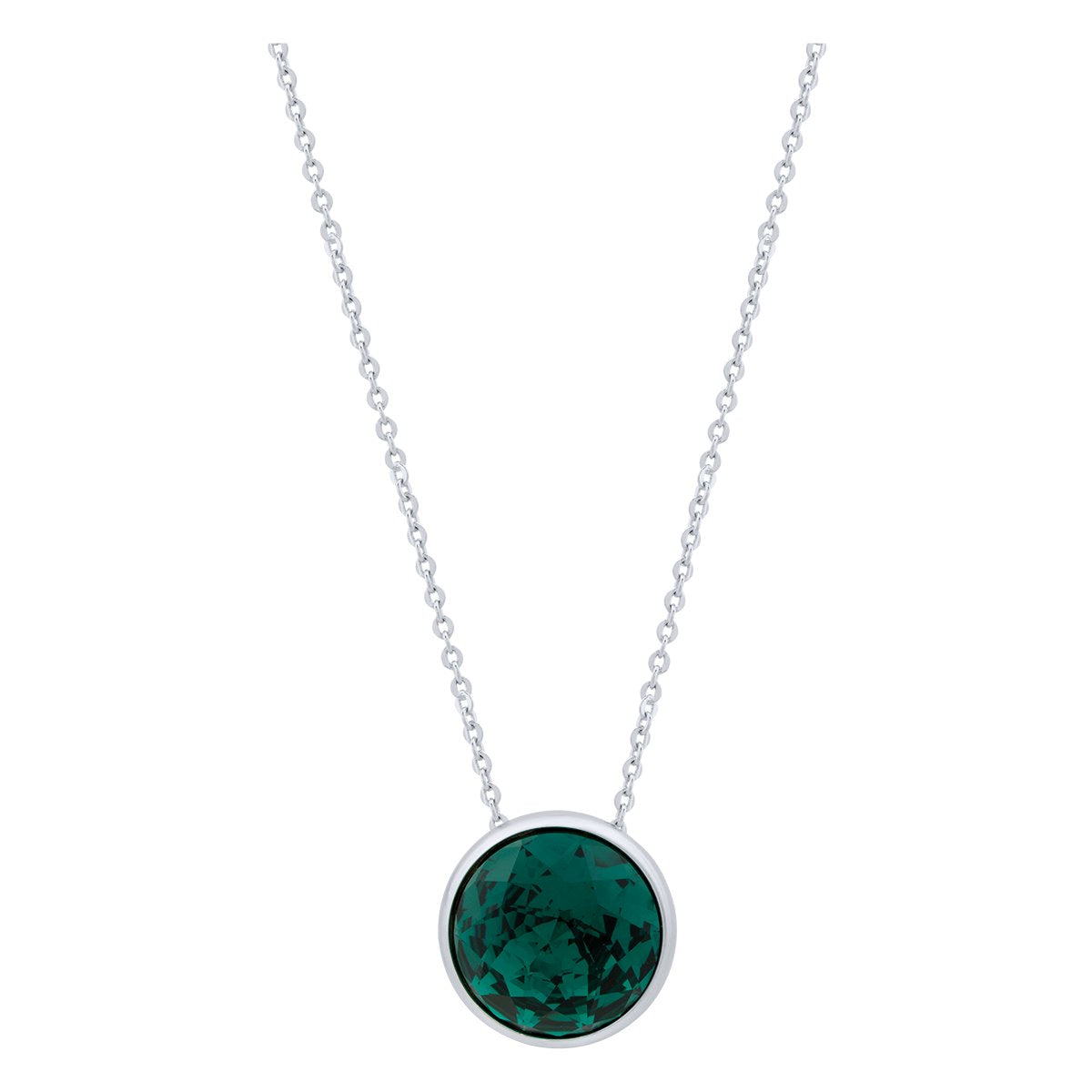 Elysees Necklace Silver Emerald JOY OF SPARKLE FOREVER CRYSTALS