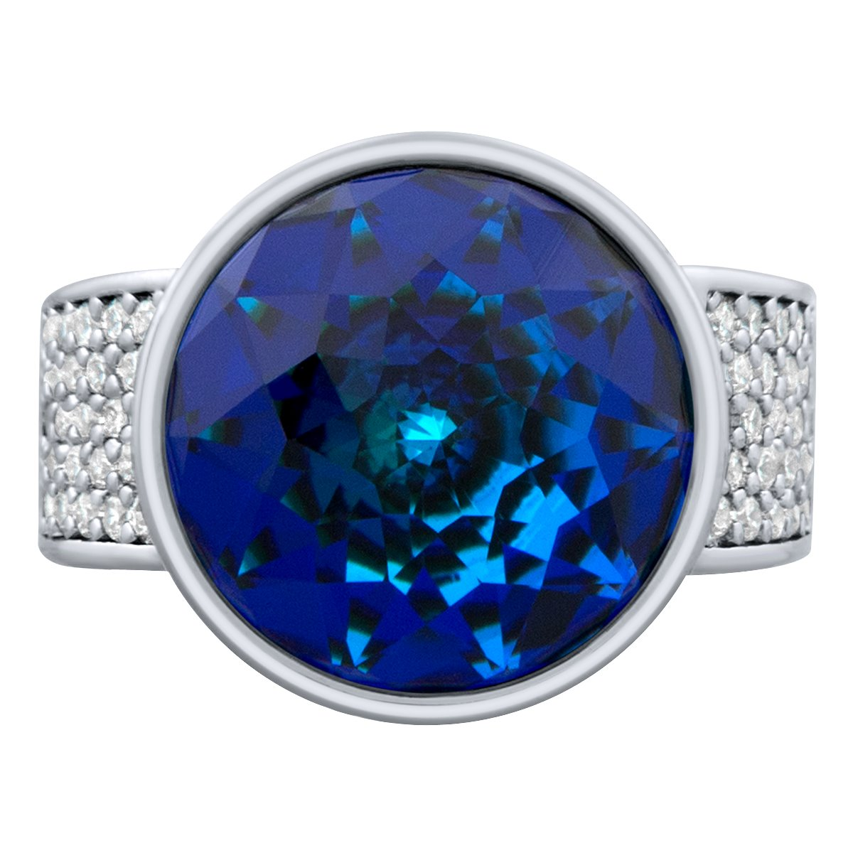 Elysees Ring Silver Bermuda Blue JOY OF SPARKLE FOREVER CRYSTALS