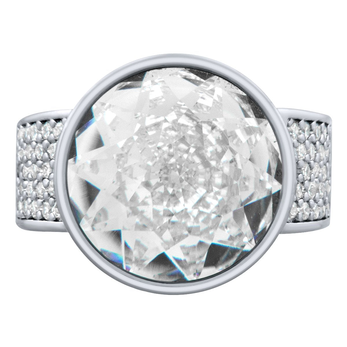Elysees Ring Silver Crystal JOY OF SPARKLE FOREVER CRYSTALS