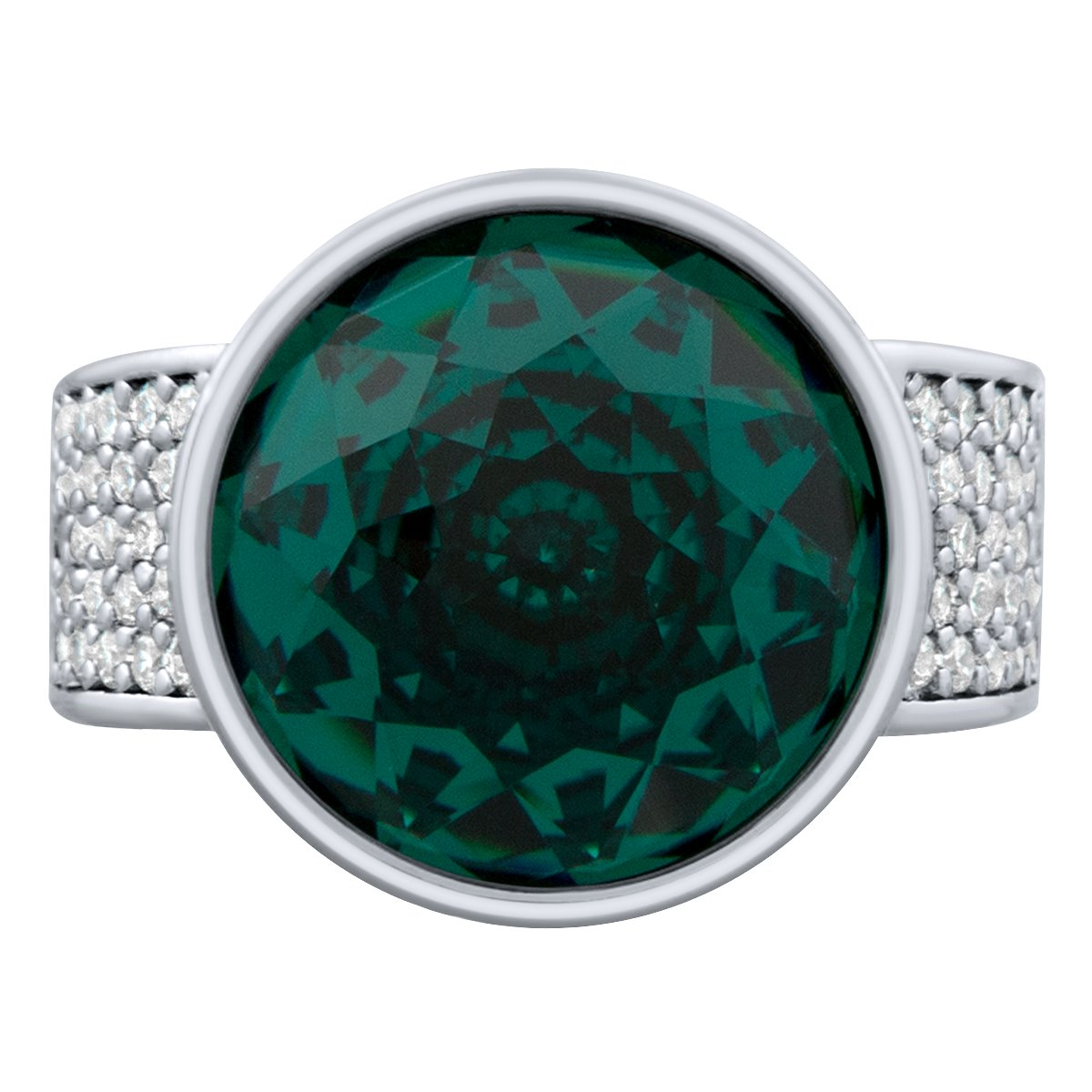 Elysees Ring Silver Emerald JOY OF SPARKLE FOREVER CRYSTALS