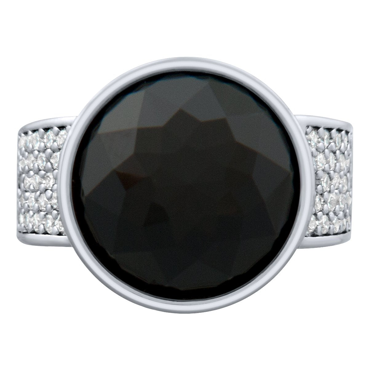 Elysees Ring Silver Jet JOY OF SPARKLE FOREVER CRYSTALS