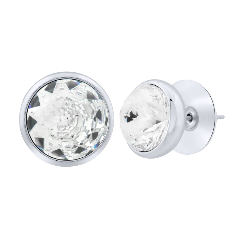 Elysees Stud Earrings Silver Crystal JOY OF SPARKLE FOREVER CRYSTALS