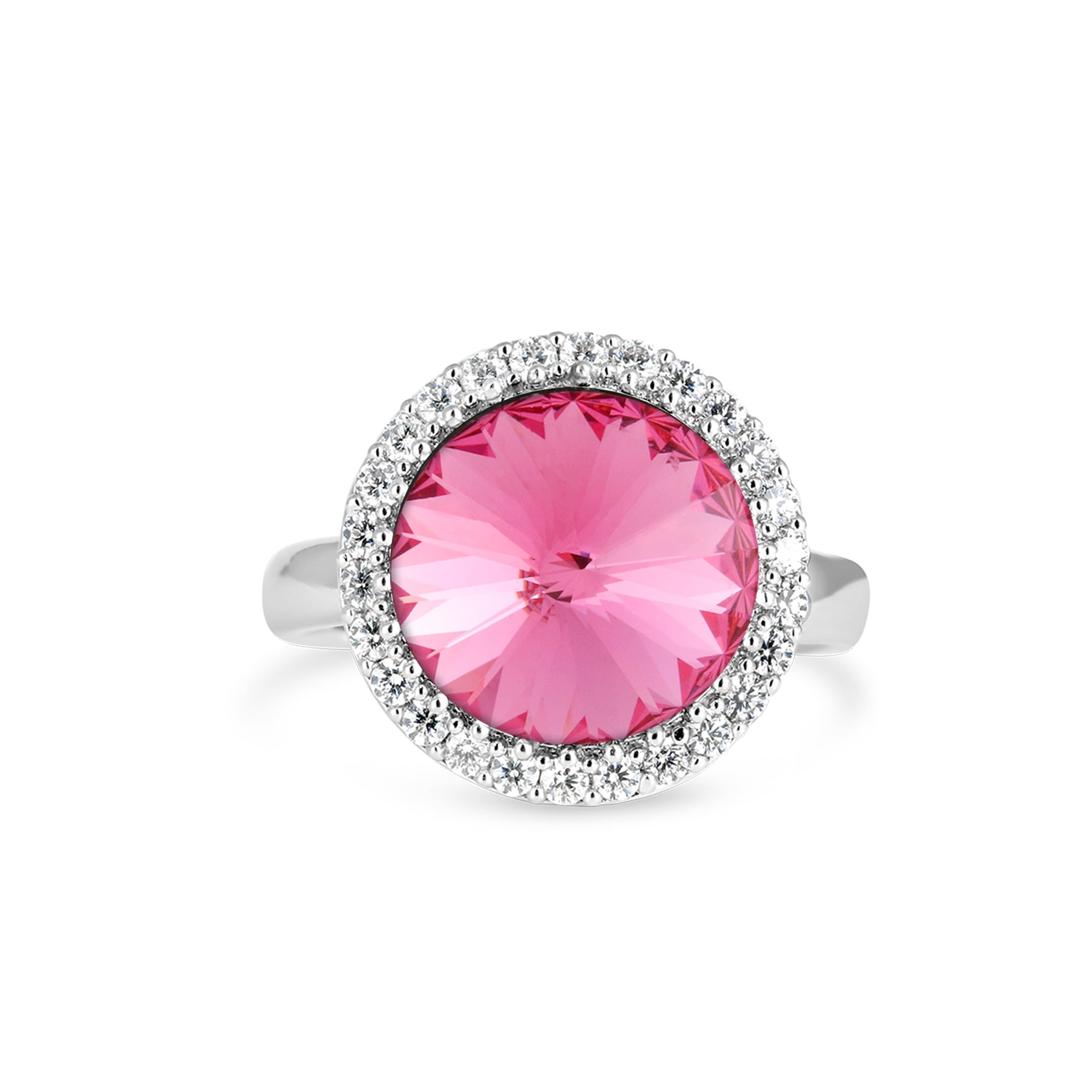 FANCY HALO RING ROSE RING - FOREVER - ESSENTIALS - ROSE 001