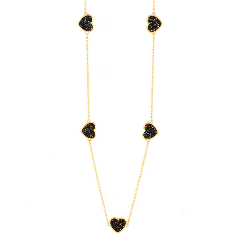 FEEL THE LOVE NECKLACE GOLD JET