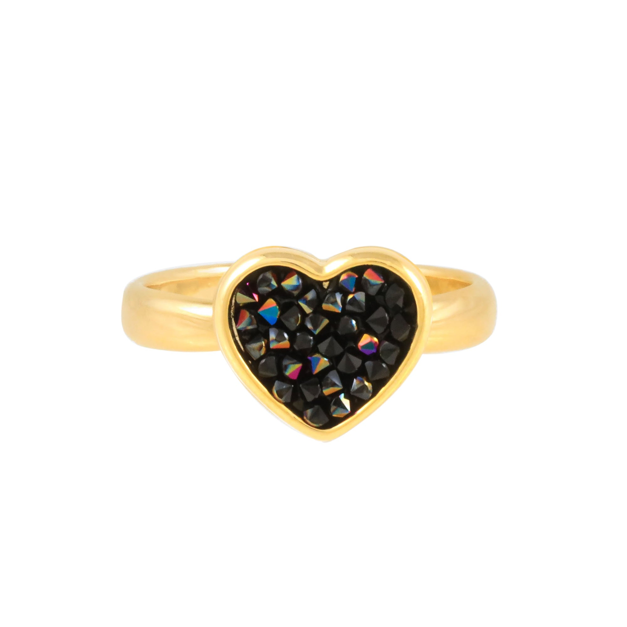 FEEL THE LOVE RING GOLD JET