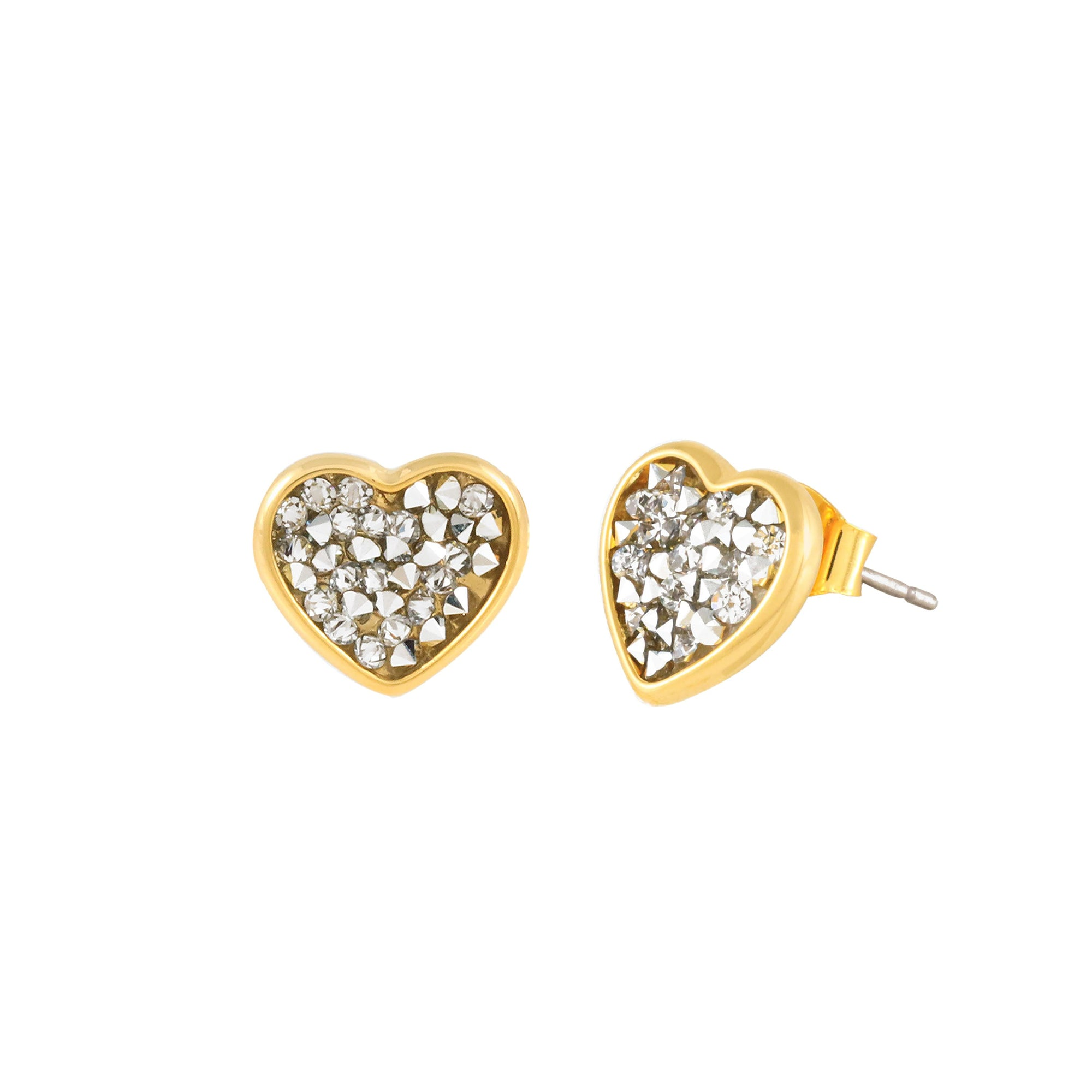 FEEL THE LOVE STUD EARRINGS GOLD CAL