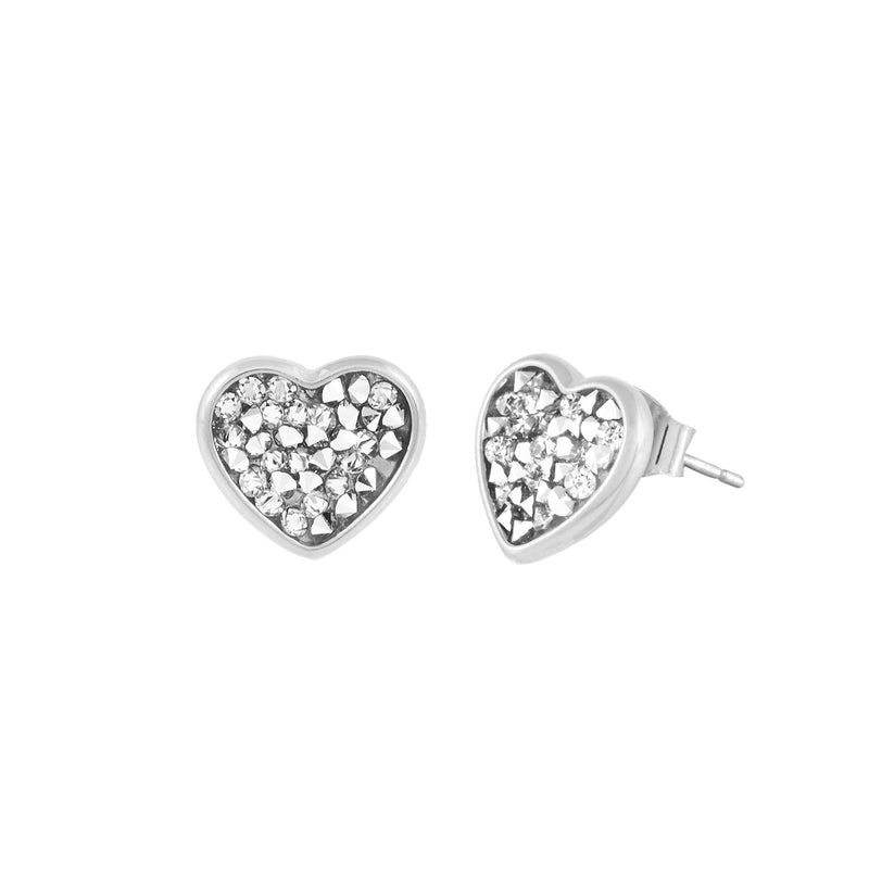 FEEL THE LOVE STUD EARRINGS SILVER CAL