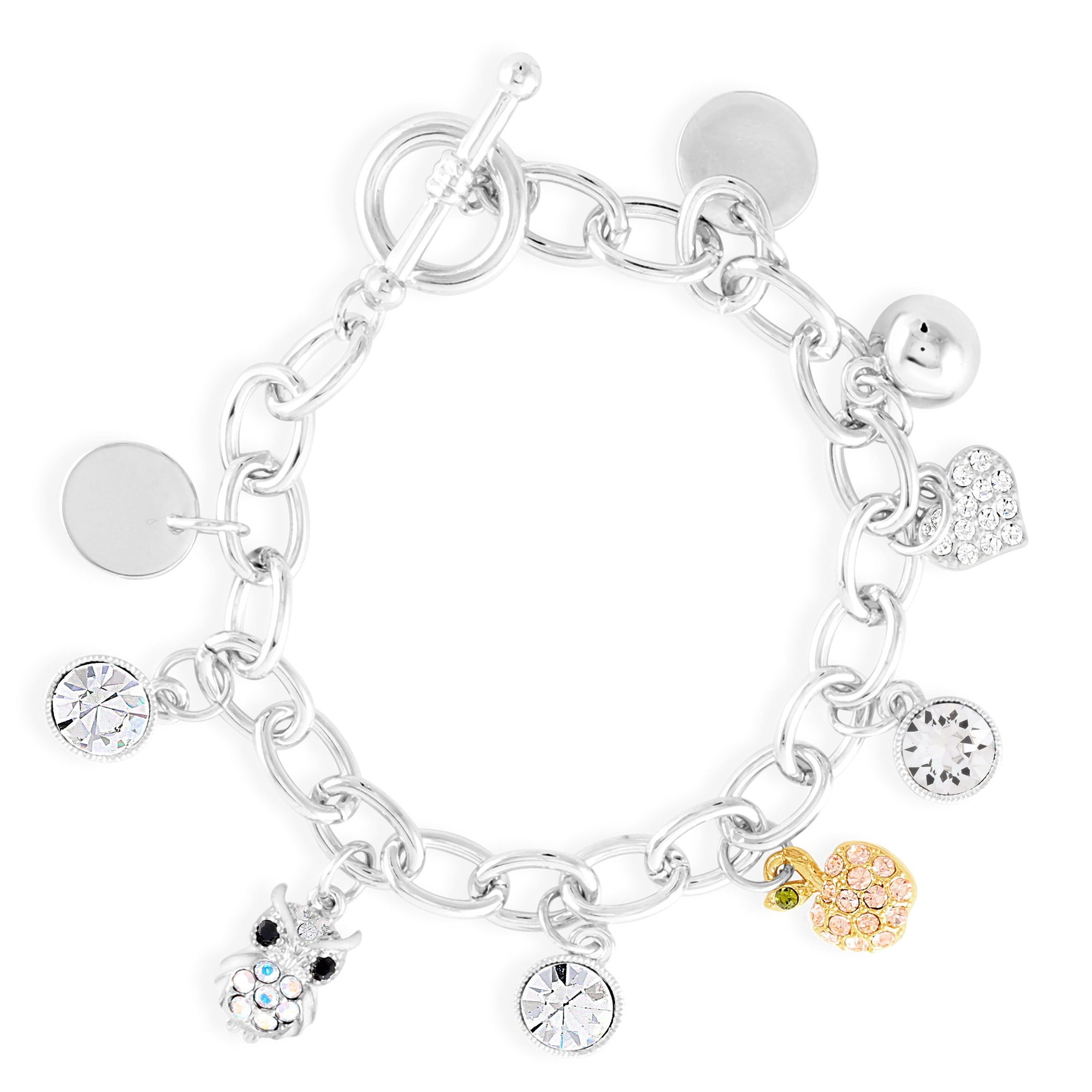 TEACHER'S CHARM BRACELET CRYSTAL