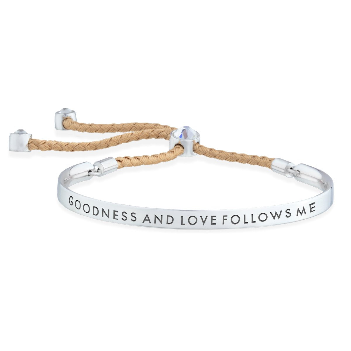 Goodness and Love Follows Me – Words of Empowerment Bracelet forevercrystals