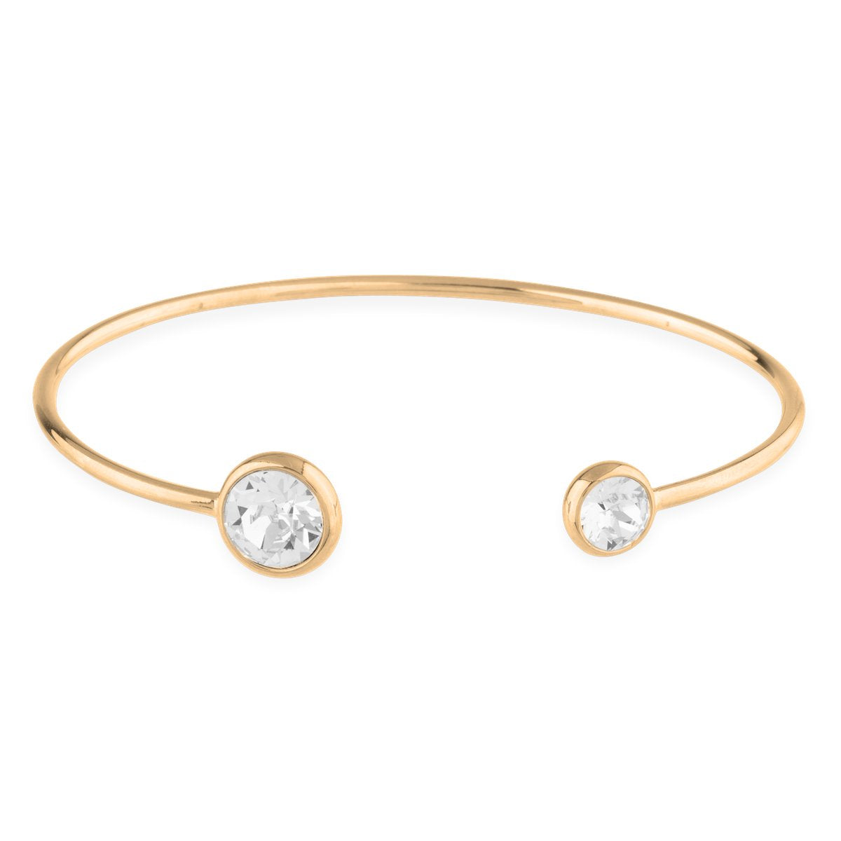 Grace Bangle Bracelet forevercrystals Gold
