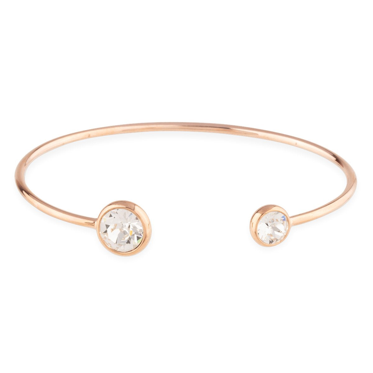 Grace Bangle Bracelet forevercrystals Rose Gold