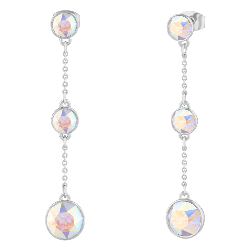 GRACE LONG DANGLE EARRING AURORA BOREALIS EARRINGS - LIFESTONE FOREVER