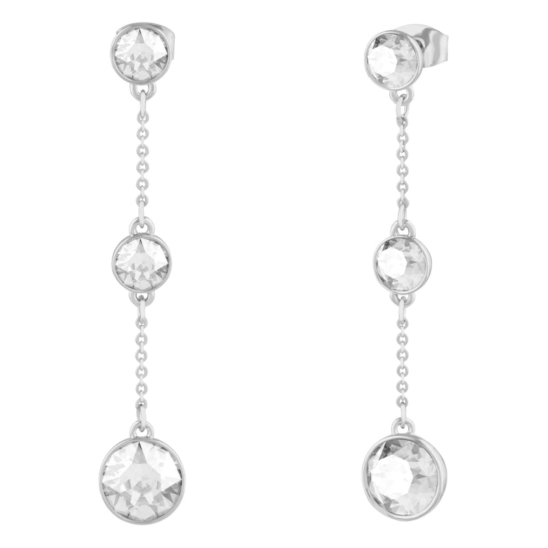 GRACE LONG DANGLE EARRING CRYSTAL EARRINGS - LIFESTONE FOREVER