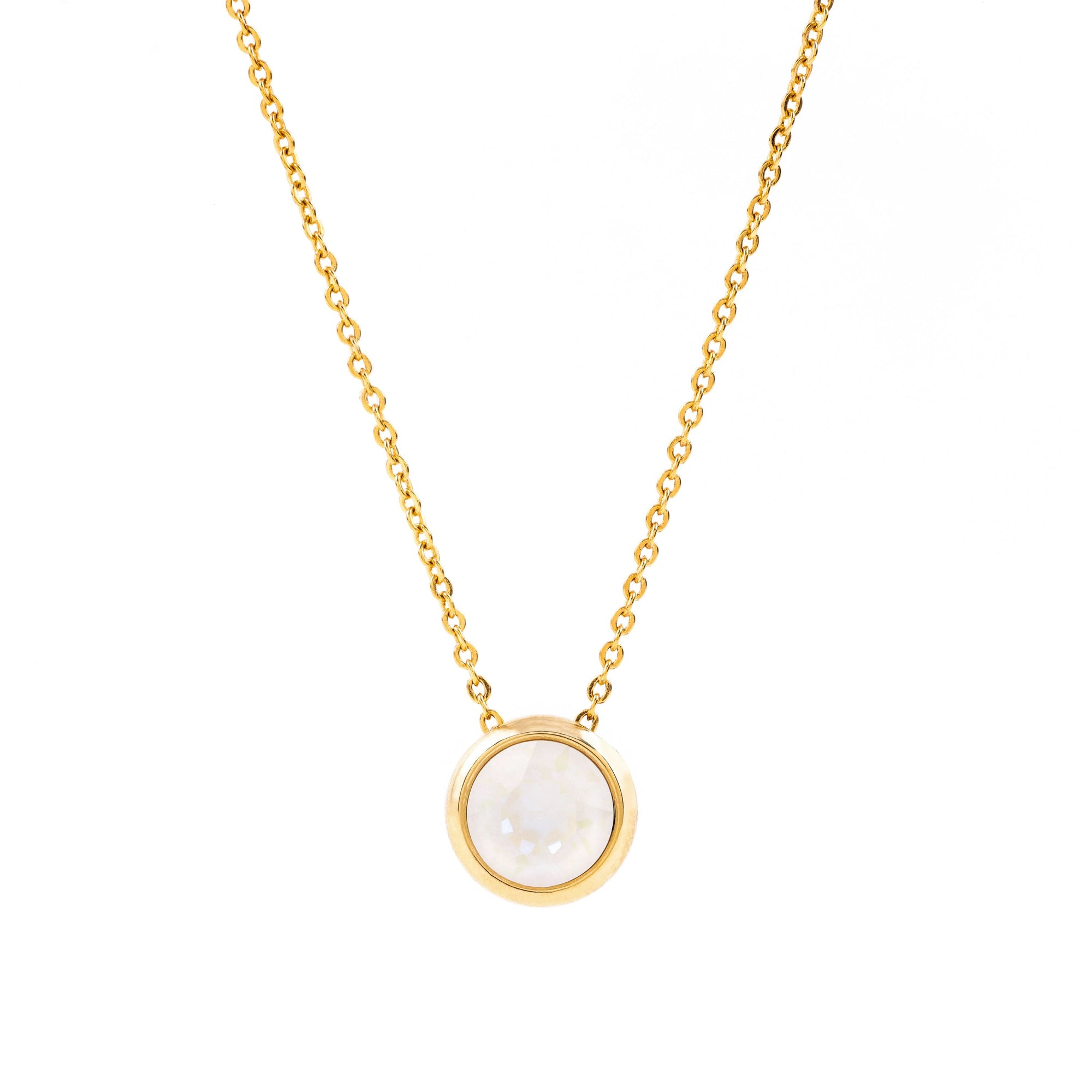 GRACE NECKLACE GOLD LIGHT GREY DELITE NECKLACE - IMPERIAL FOREVER