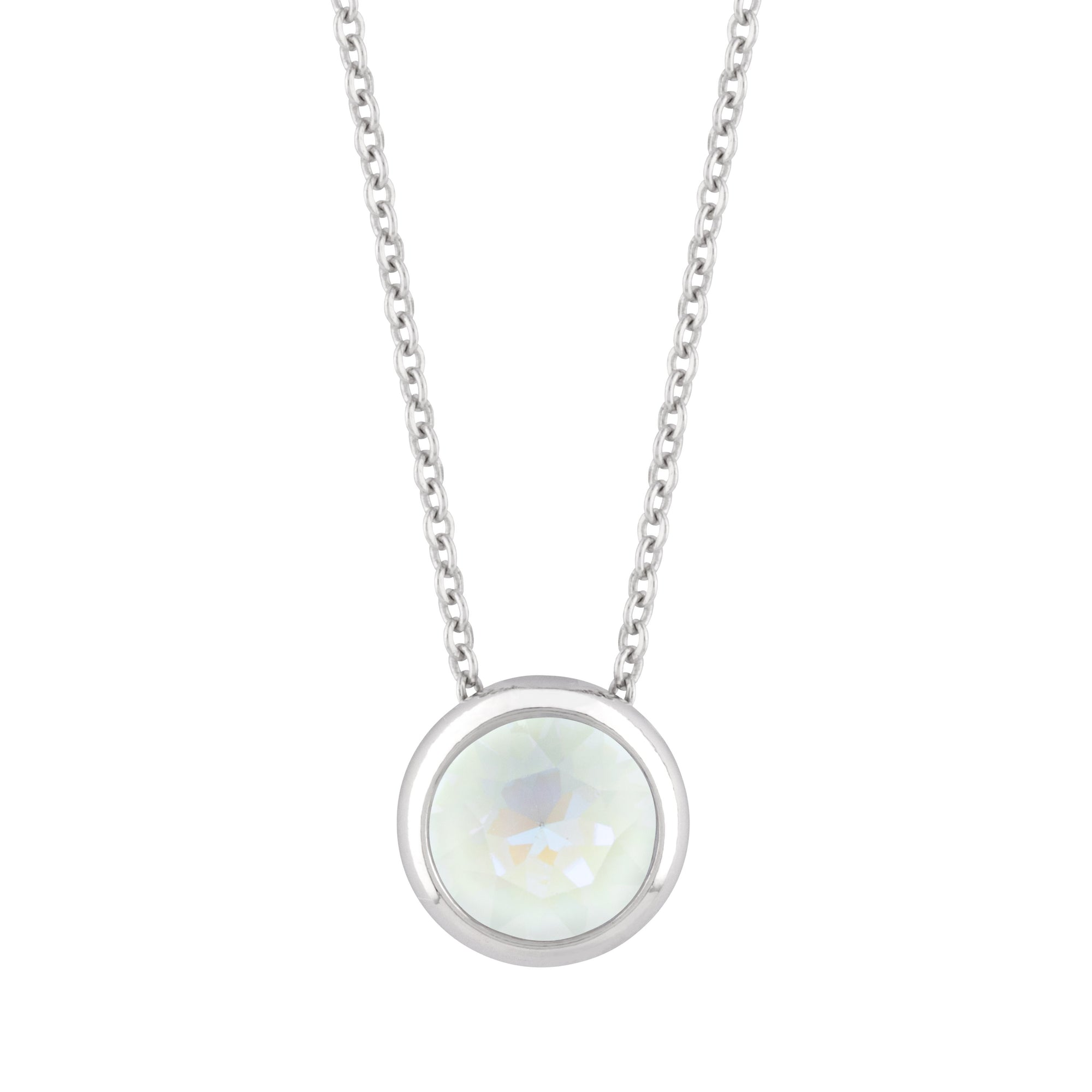 Grace Necklace Light Grey Delite forevercrystals