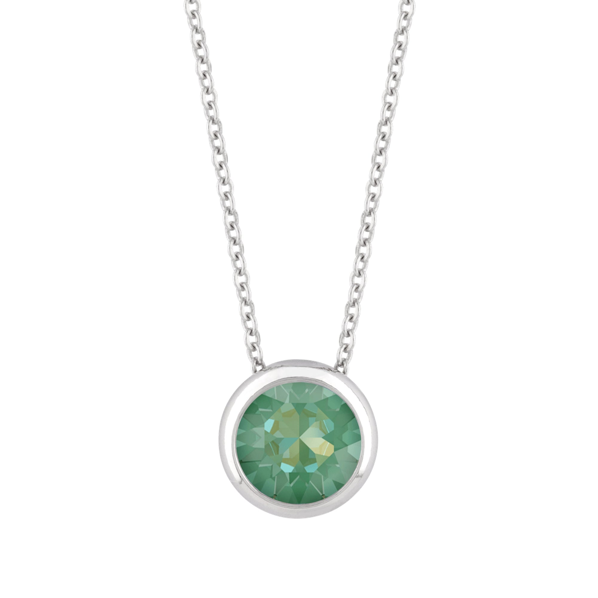Grace Necklace Silver Radiant Green NEW BEGINNINGS FOREVER CRYSTALS