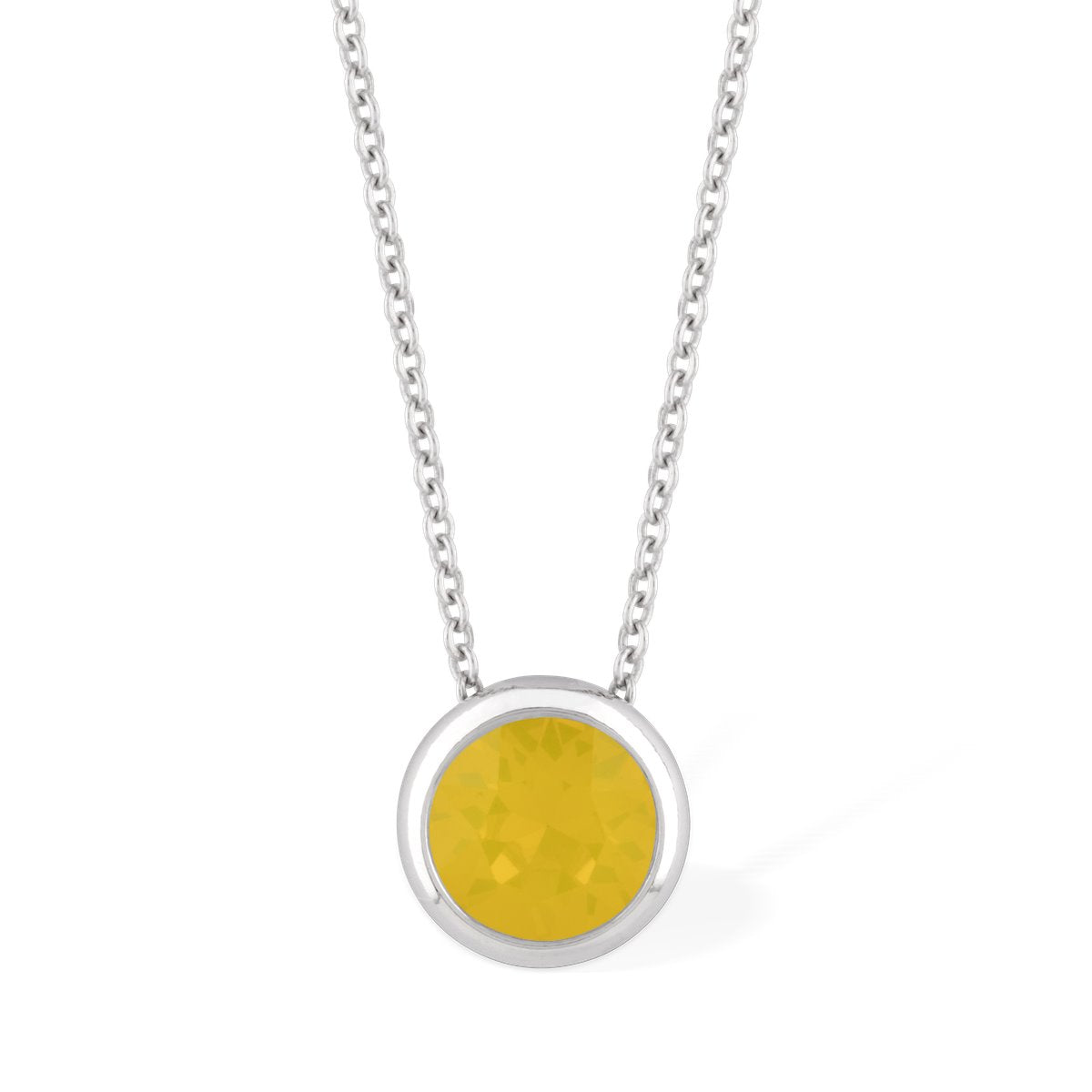 Grace Necklace Yellow Opal forevercrystals