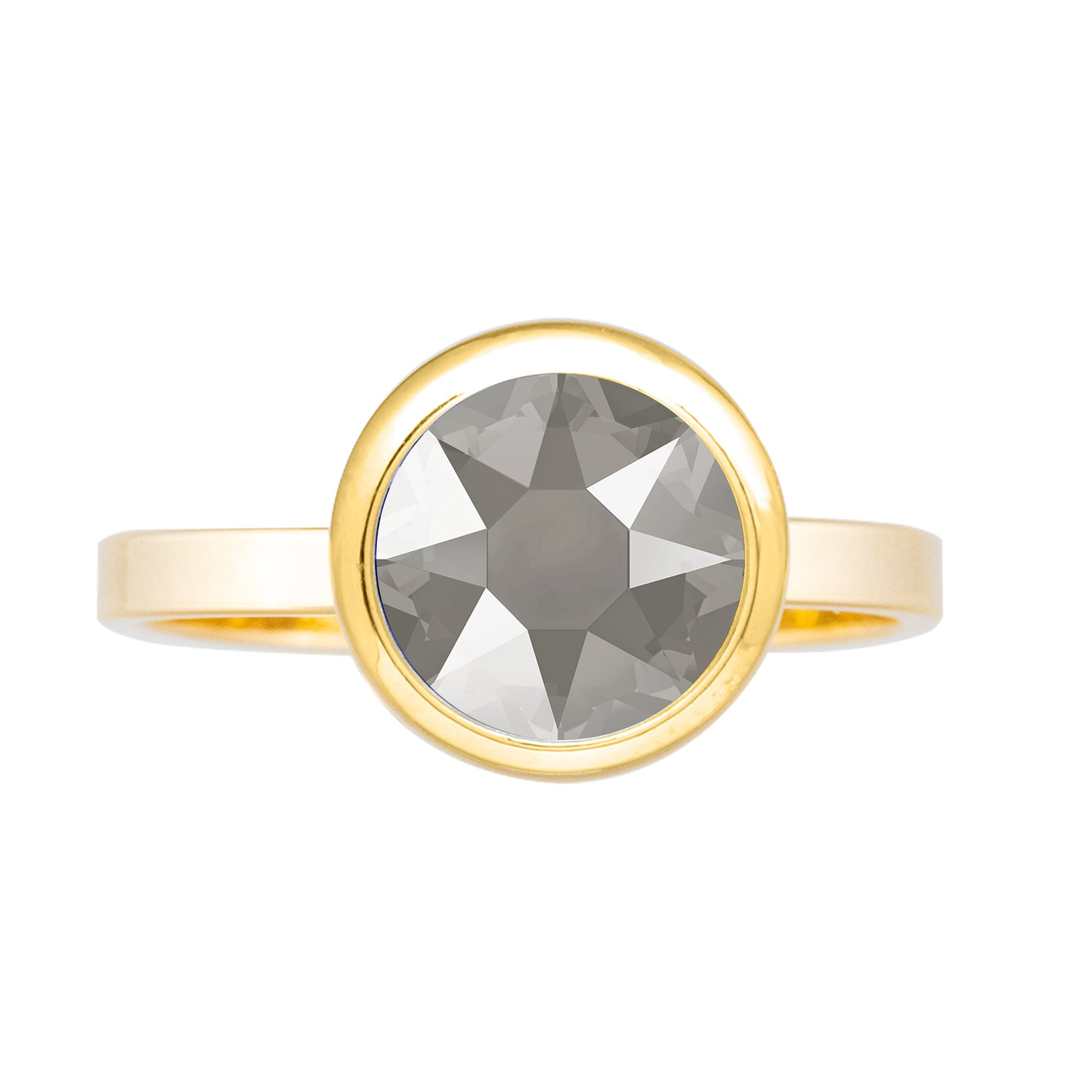 Grace Ring Gold Dark Grey