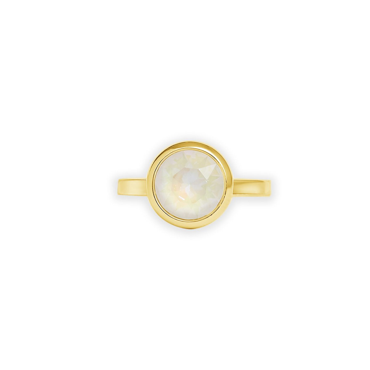 GRACE RING GOLD LIGHT GREY DELITE IMPERIAL FOREVER CRYSTALS