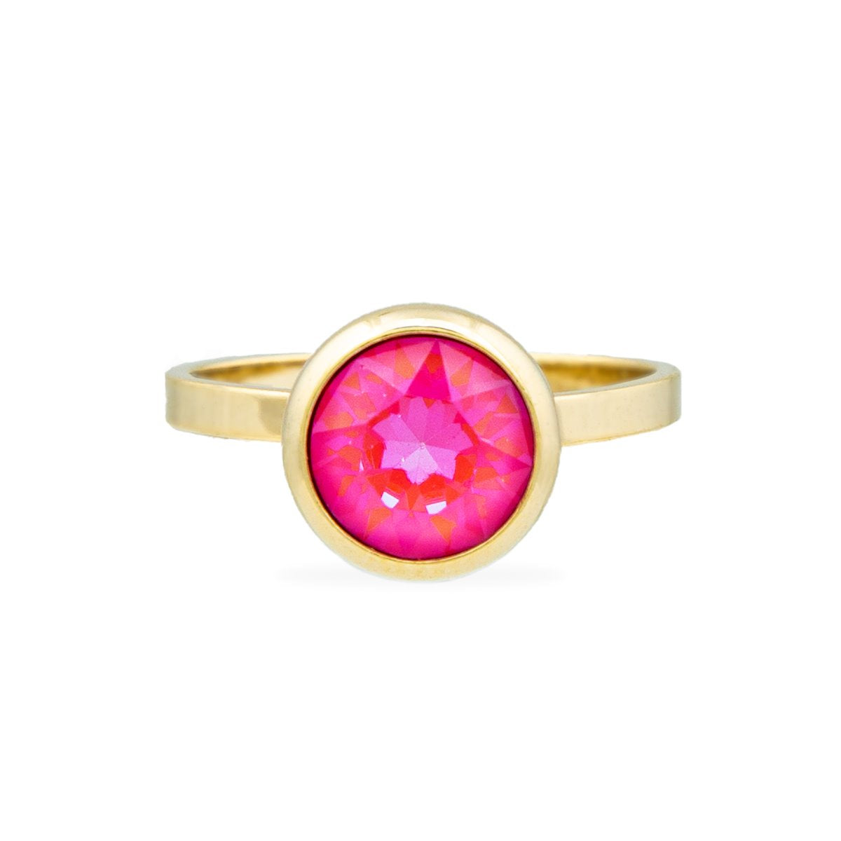 GRACE RING GOLD LOTUS PINK DELITE SFAC FOREVER CRYSTALS