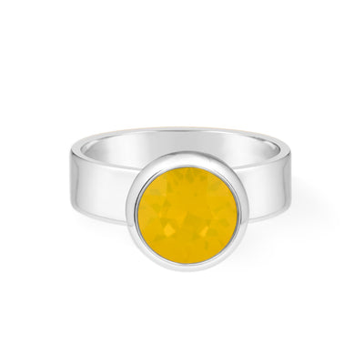 Grace Ring Yellow Opal forevercrystals