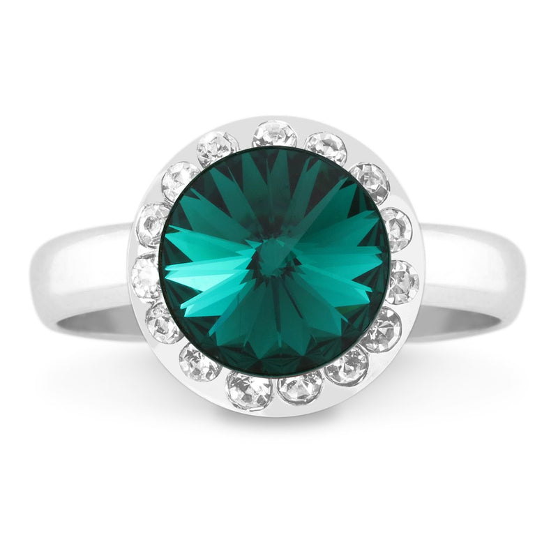 HALO RING EMERALD RING - FOREVER - LIFESTONES - EMERALD 001