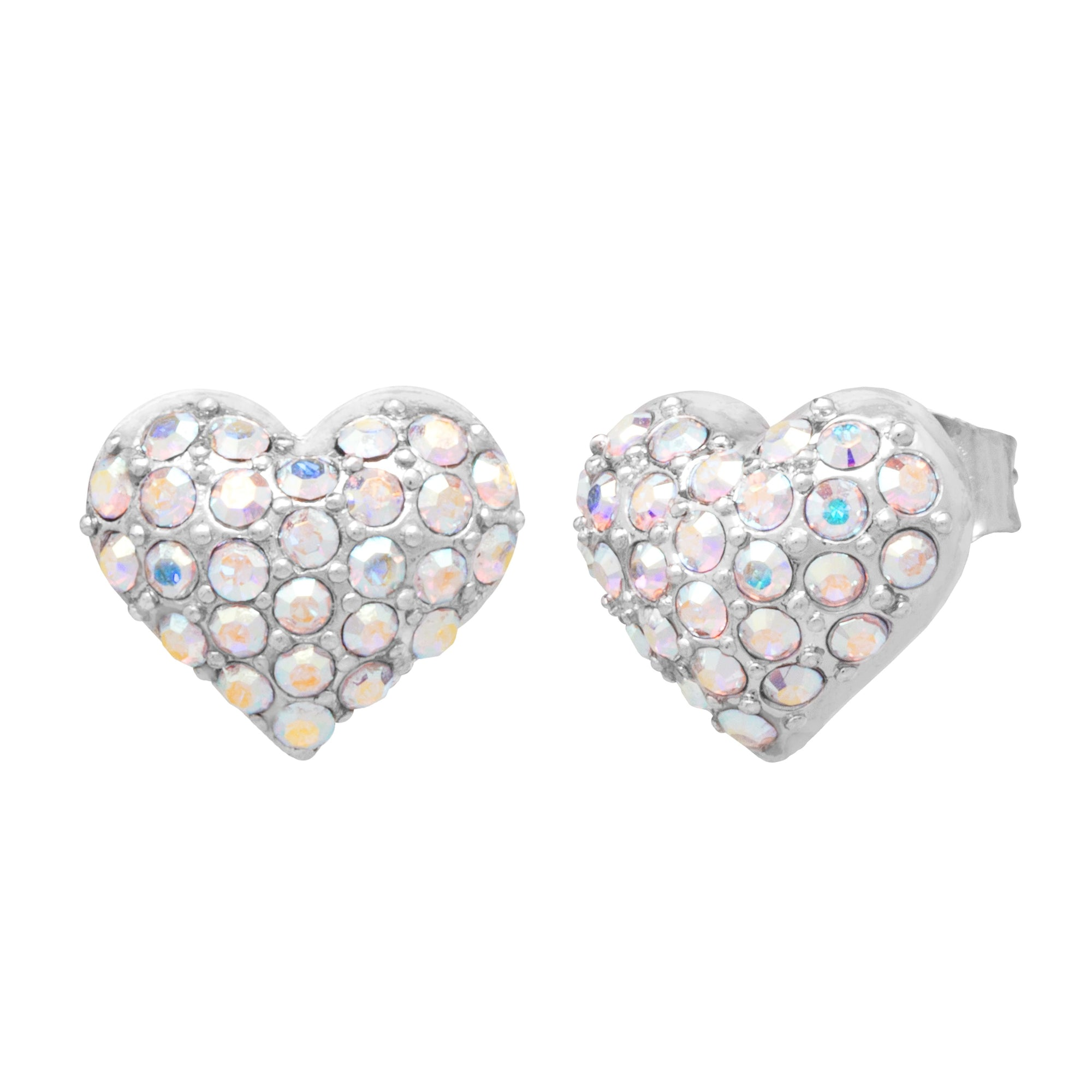 Heart Pavé Earrings forevercrystals